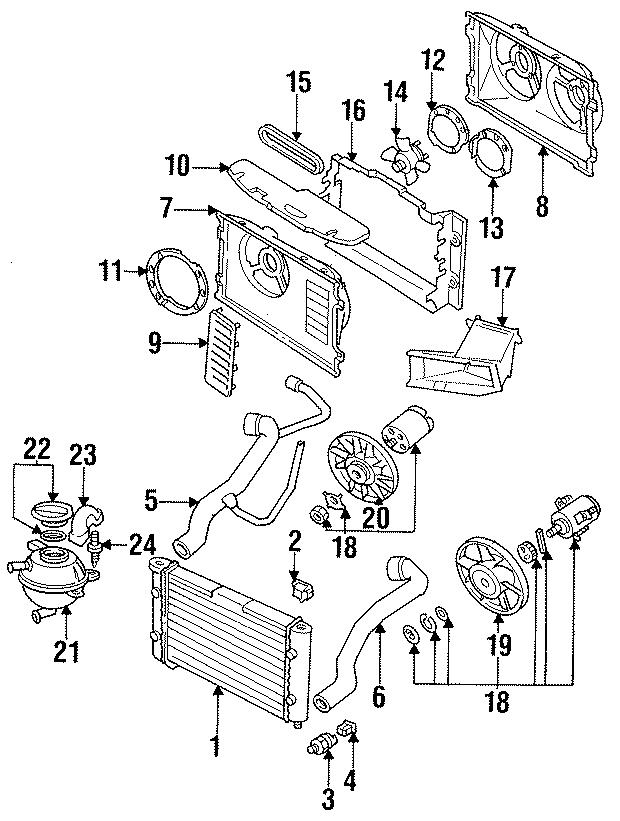 1998 Volkswagen Jetta Engine Cooling Fan Blade  Cylinder  Wac  Liter